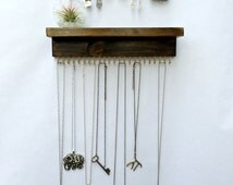 Wall Mount Jewelry Organizer, Necklace Holder and Earring Display