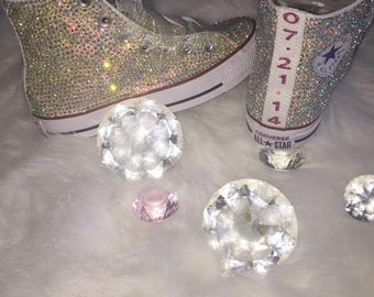 GORGEOUS all over bling high top converse!