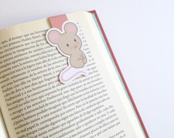 Little Mouse Magnetic Bookmark  - Double Sided