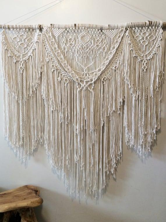 48 x large bohemian macrame wall hanging boho by niromastudio