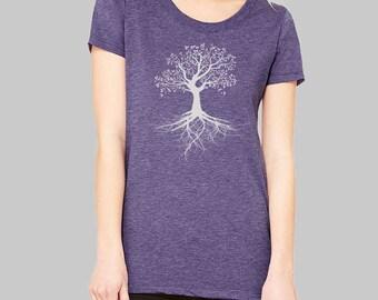 Tree of Life Tshirt - Bella, tri blend, womens, tree shirt, junior clothing