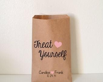Wedding Favor Bag, Treat Yourself Candy Bag, Personalized Favor Bag, Treat Bags, Custom Favor Bags
