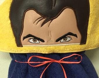 Wolverine Hooded Towel - Hooded Towel - Towel - Childs hooded towel - Adult Hooded Towel - RedRockCraftsWY