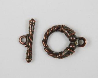 SALE! 9/3 MADE in EUROPE 20mm toggle clasp, copper toggle clasp (X2762ABAC)Qty1