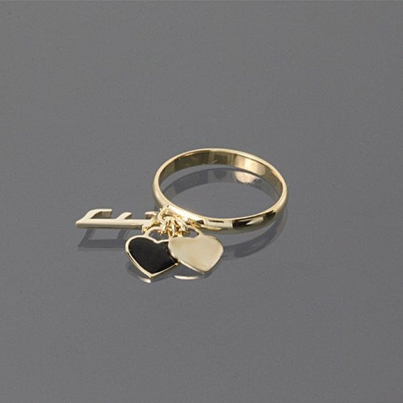personalized ring 14k gold ring custom ring name ring