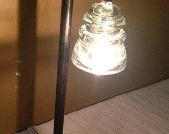 Vintage Telegraph Insulator Lamp