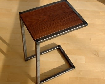 Wood and Steel C-Table