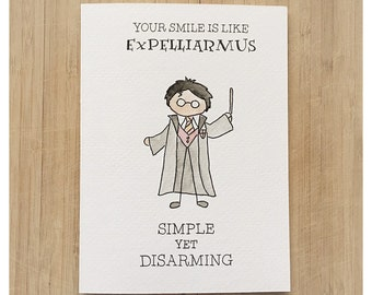 Harry Potter Greeting Card, Harry Potter Valentine's Day Card, Watercolour Harry Potter, Harry Potter, card for harry potter lover, potter