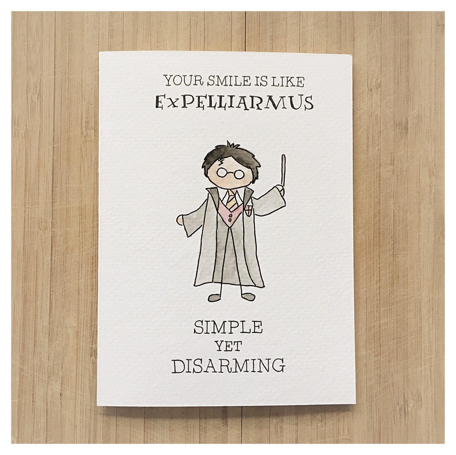 Harry potter greeting card harry potter by kenziecardco on for What to put on a valentines card