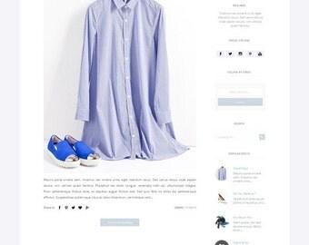 Fashion Responsive Blogger Template - Premade blogger Template - Clean Minimalist Design - Sleek - Modern Blogspot
