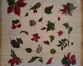 Beautiful Kreier 100% Pure Soft Wool - Amazing Hand Printed and Pure Vintage - New and Unused from Vintage Stock