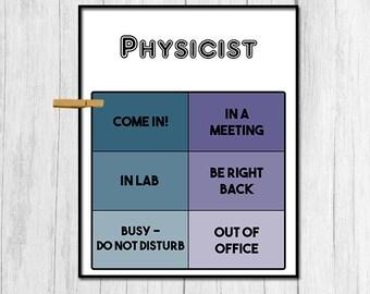 Gift for Physicist Door Sign Digital Door Sign Physicist Digital Download Physics Gift Office Door Sign Door Decor Physics Poster Digital