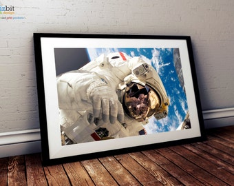 NASA Poster - Astronaut Discovery / ISS space walk, High Quality Crystal Archive Print