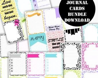 Cheetah Printable Journal Cards Bundle // Erin Condren Life Planner / Kikki / Plum Paper Planner / Midori Insert / Planner Insert