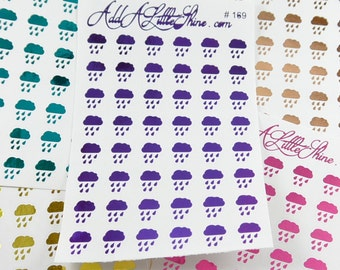 Rain Weather Foiled Planner Stickers - 48 ct. [#169]
