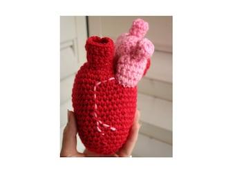 Crocheted Anatomical Heart / Stuffed Heart / Valentines Heart / Amigurumi Heart / Crochet Heart by Wychbury Ave