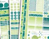 Printable March Planner Stickers | Instant Download | March Kit Planner Stickers | Clover Stickers | Turtles | Erin Condren March Stickers