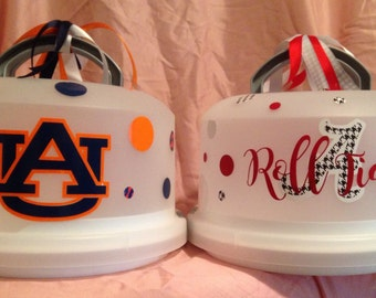 Alabama or Auburn Cake Carrier