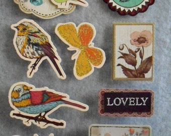 Stickers, Some 3D, Birds Butterflies,Flowers for scrapbooks, cards,envelopes, & much more