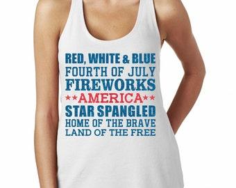 Fourth Of July Shirt - American Pride Glitter Shirt