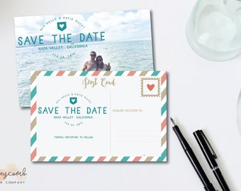 Photo Save the Date Postcard | Custom Save the Date | Photo Postcard | Printable and Customizable Save the Dates | Cheap Save the Dates