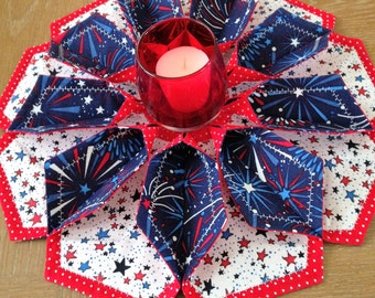 The Blossom - Table Topper, Candle Mat, Patriotic