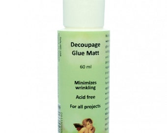 Glue for Decoupage Fabric Glue Glue For Porcelain Candle Glue Daily Art 60 ml