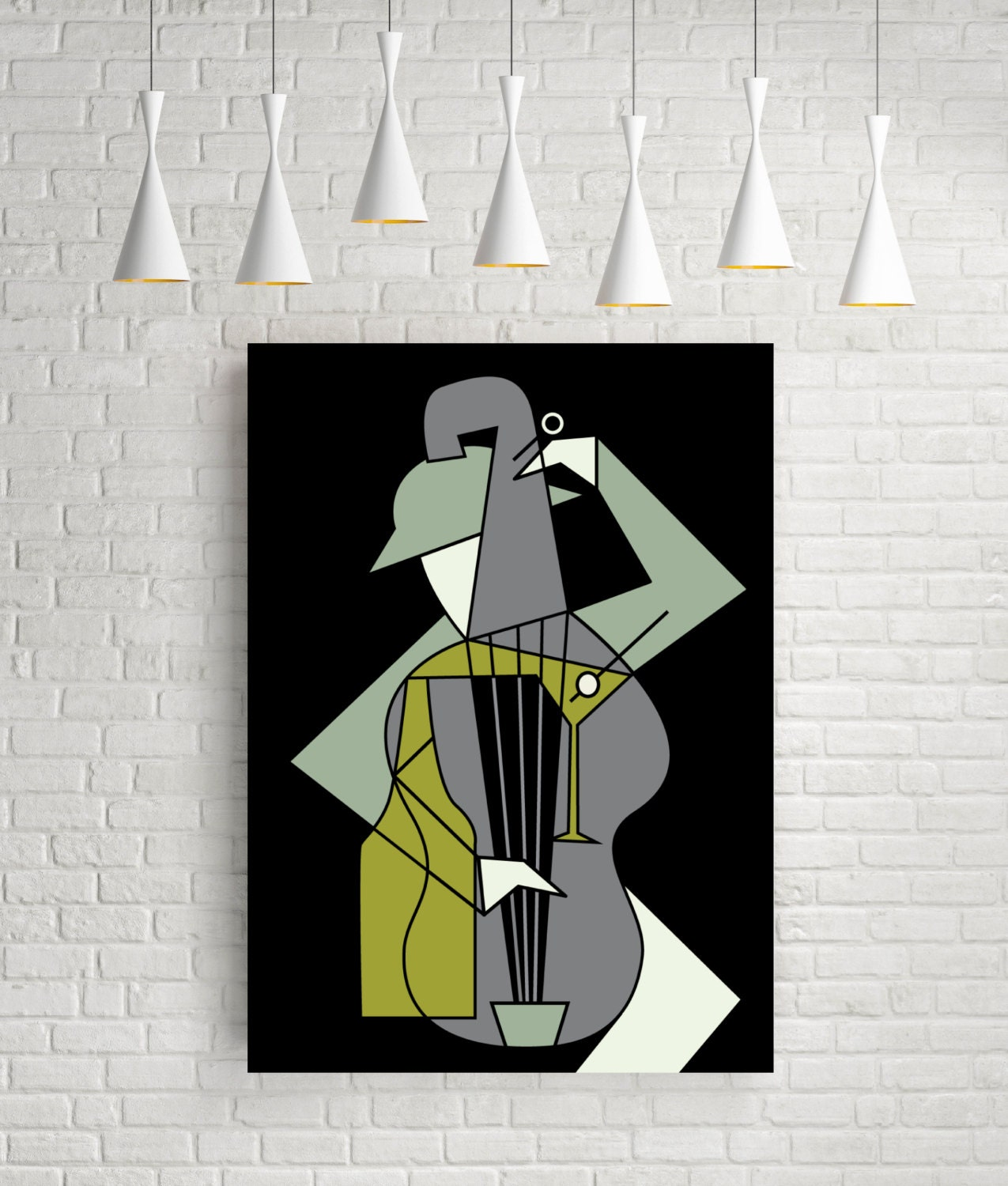 Music alcohol minimalist print mid century modern music for 500 decoration details minimalism