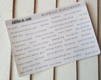 Words of Randomness - Workout Motivation