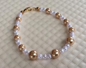 Cascading Pearl Bracelet