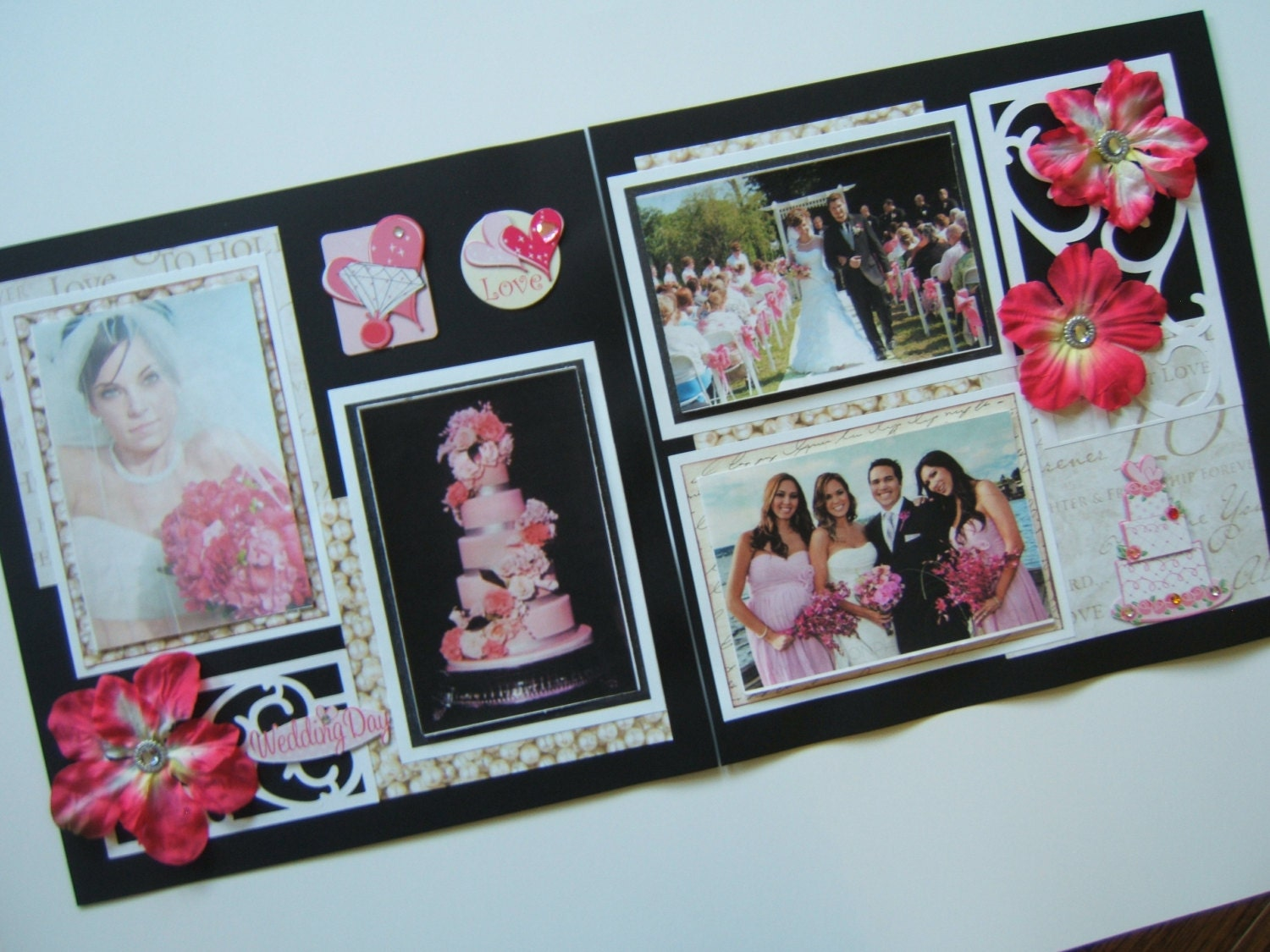 Wedding Scrapbook Pages Premade Pink By MadeForYouScrapbooks