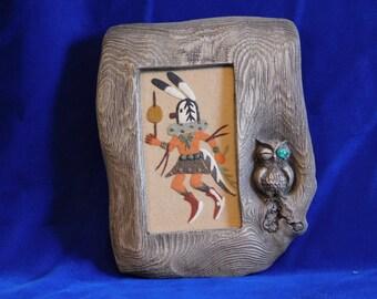 Navajo Sand Art in Decorative Frame