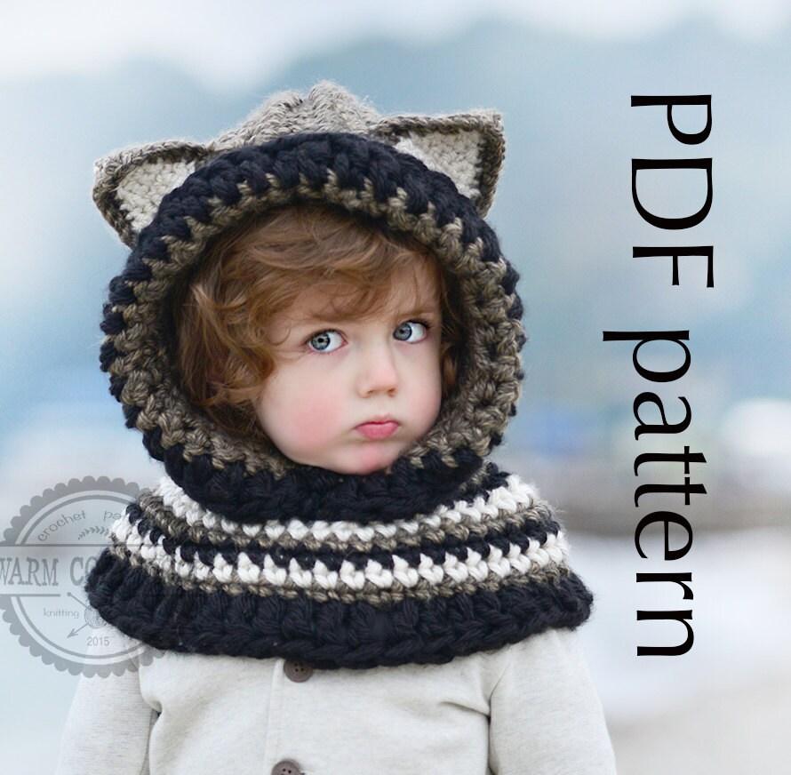 Free Crochet Pattern For Fox Cowl : CROCHET PATTERN Fox Hooded Cowl For babytoddler by ...