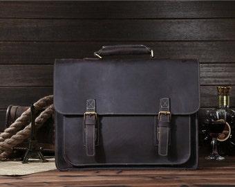 Saddles Genuine Leather Men Messenger Bag, Men Leather Briefcase, Men Leather handbag, Men Handbag, Laptop Bag, Macbook Bag