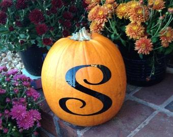 Pumpkin Decal Vinyl Letter Decal Halloween Decal Halloween Sticker Pumpkin Decal Halloween Fall Decor Autumn Decor