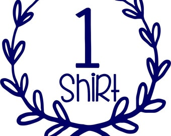 Order for 1 personalized comfort color shirt