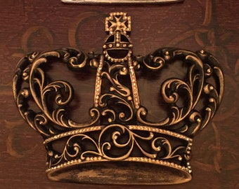 Decorative King Wall Crown GOLD with Bling - FREE SHIPPING