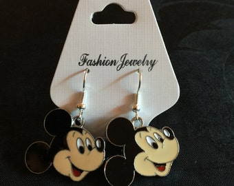 Silver Plated Disney Mickey Mouse Earrings