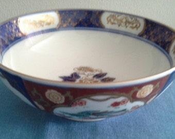 Limoges - Imari Hand Painted Decorative  Bowl,1970s