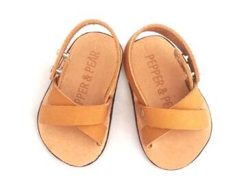Leather Baby Sandal- Criss Cross
