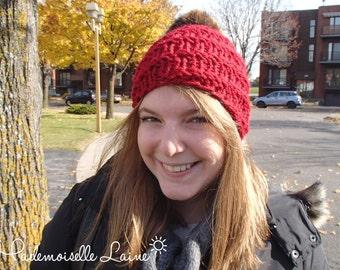 Pom pom winter hat - Red
