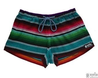 """Women's """"Cabana"""" Adventure Shorts Fair Trade Clothing, Festival, Bohemian, Folk, Boho, Chic, Booty Shorts, Hippie, Cochella- Handmade,"""