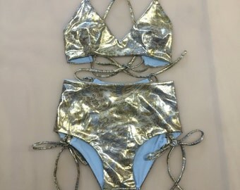 Holographic swimsuit | Etsy