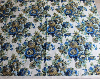 Vintage FLORAL UPHOLSTERY  FABRIC 1.5 yards