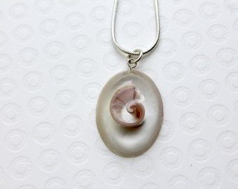 Shell Necklace, Resin Necklace, Resin Pendant, Resin Jewellery