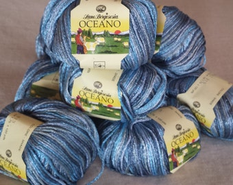 Oceano by Lane Borgosesia Yarn Color 813 Blue Multi