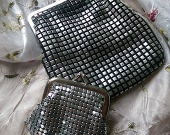 Vintage metallic handbag and Purse