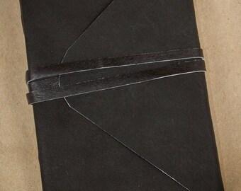 Leather Journal, Leather Sketchbook, Handmade Leather Notebook, Leather Diary, Travel Journal, Custom Sketchbook, Gift Idea, Three Snails