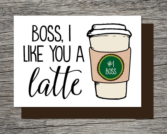 Genius image in bosses day cards printable