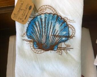 Seashell Tea Dishtowel SAVER